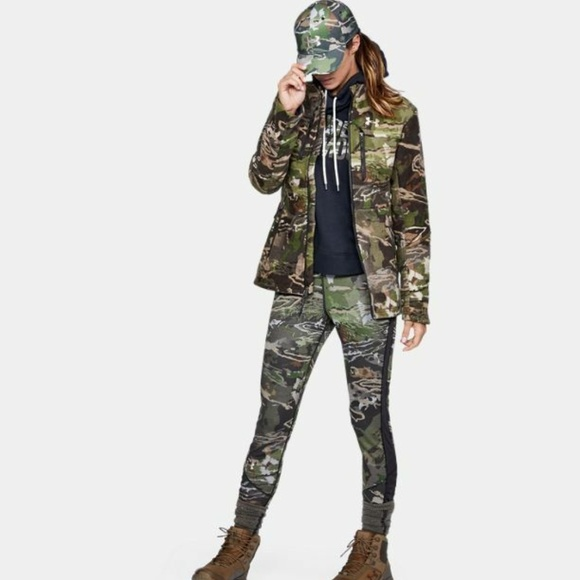 548c8a73b1 Under Armour Mid Season Wool Camo Hunting Jacket M NWT